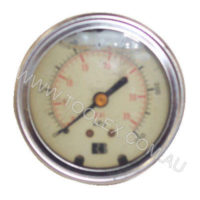 Gauge 250Kpa 63mm Oil Back 1/4