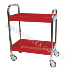 Service Cart 762 x 406 x 812 Red 2 Trays 160kg Load Capacity
