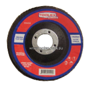 Flap Disc 115 x 22mm 80 Grit Zirconium Polyfan Conical