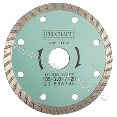 Diamond Wheel 115mm Turbo 7mm Cuts Sandstone & Green Concret 22.23mm Bore 20mm Bush