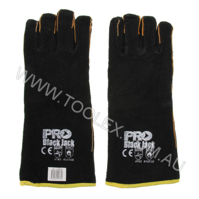 Glove Welder Black 40Cm Lined