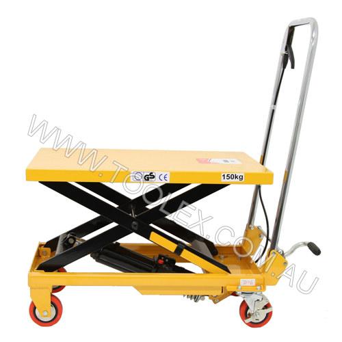 Toolex | Hydraulic Scissor Lift 150Kg 740mm Yellow Lifting Table