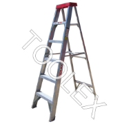 Ladder Step Single 1.8m 150kg Aluminium Industrial 6ft Single Sided As/Nzs1892.1:1996