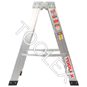 Ladder Step Double 0.9m 150kg Aluminium Industrial 3ft Double Sided As/Nzs1892.1:1996