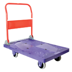 Platform Hand Truck 300KG Load Rating With Heavy Duty PVC/Plastic Platform With Fold