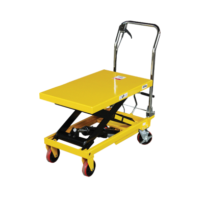 Hydraulic Scissor Lift 500kg Height 900mm Yellow