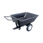 Poly Cart Garden Tipper/Traile Heavy Duty With Doly Castor Wheels and Pneumatic Wheels 16