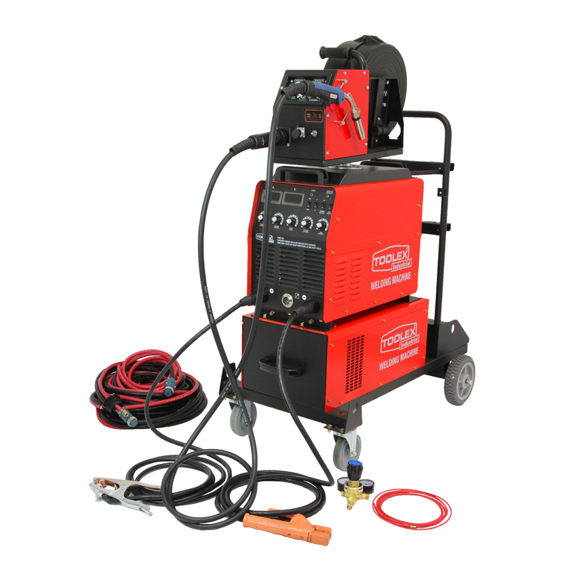 Mig Welder 400AMP 60 Duty Cycle W Separate Wire Feeder 10M Cable 4M MB36KD