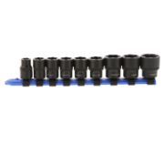 Bolt & Stud Extractor Set 9 Piece For Metric Sizes With  3/8