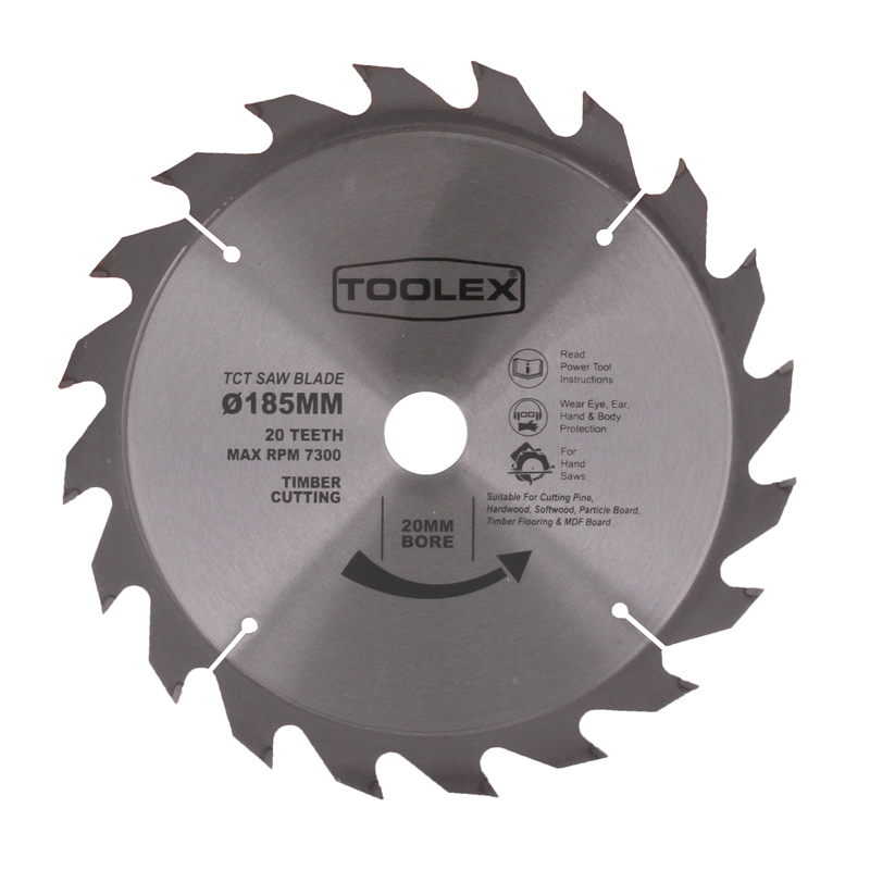Toolex circular saw blade 185mm 20th timber cutting with 20mm bore circular saw blade 185mm 20th timber cutting with 20mm bore 16mm reducing bush keyboard keysfo Choice Image