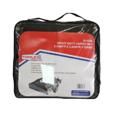 Cargo Net Heavy Duty 2.43m x 2.43m x 50mm Webbing With 8MM Bungee Cord & Stainless Steel