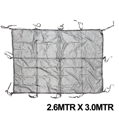 Cargo Net Heavy Duty 2.61m x 3.0m x 50mm Webbing With 8MM Bungee Cord & Stainless Steel