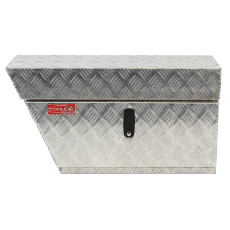 Tool Box Aluminium 750 x 400 x 250 Left Hand Side Under Tray Checker Plate