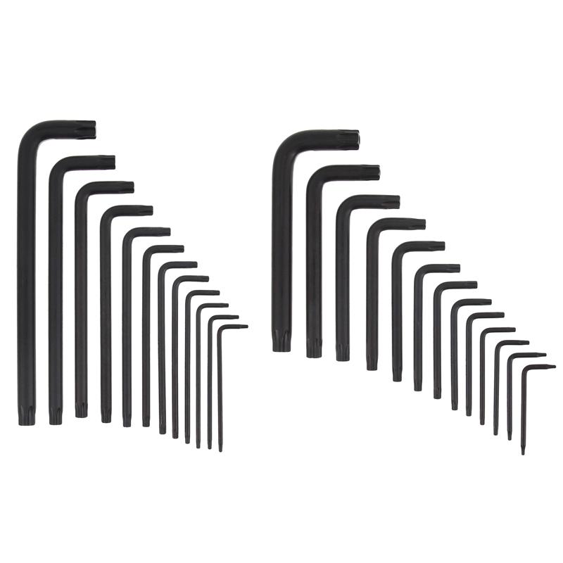 Toolex | Torx Key 25 Piece Set: T7-T55 Tamperproof Extra