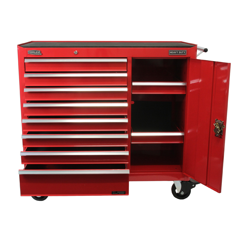 toolex work shop tool box 1044 x 465 x 1005 red tool trolley 8 drawers imt132 heavy duty. Black Bedroom Furniture Sets. Home Design Ideas