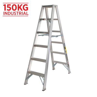 Ladder Step Double 1.8m 150kg Aluminium Promotional 6ft Double Sided As/Nzs1892.1:1996