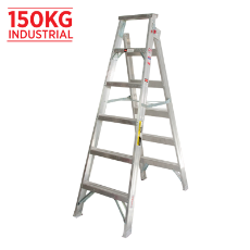 Ladder Dual Purpose 1.8m 3.3m 150kg Aluminium Industrial 6ft 11ft As/Nzs1892.1:1996