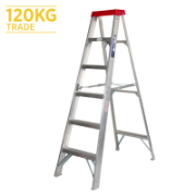 Ladder Step Single 1.8m 120kg Aluminium Trade 6ft Single Sided As/Nzs1892.1:1996