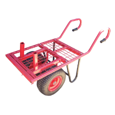 Brick Buggy W/Wheel C Handle 300kg Capacity Pneumatic Wheels