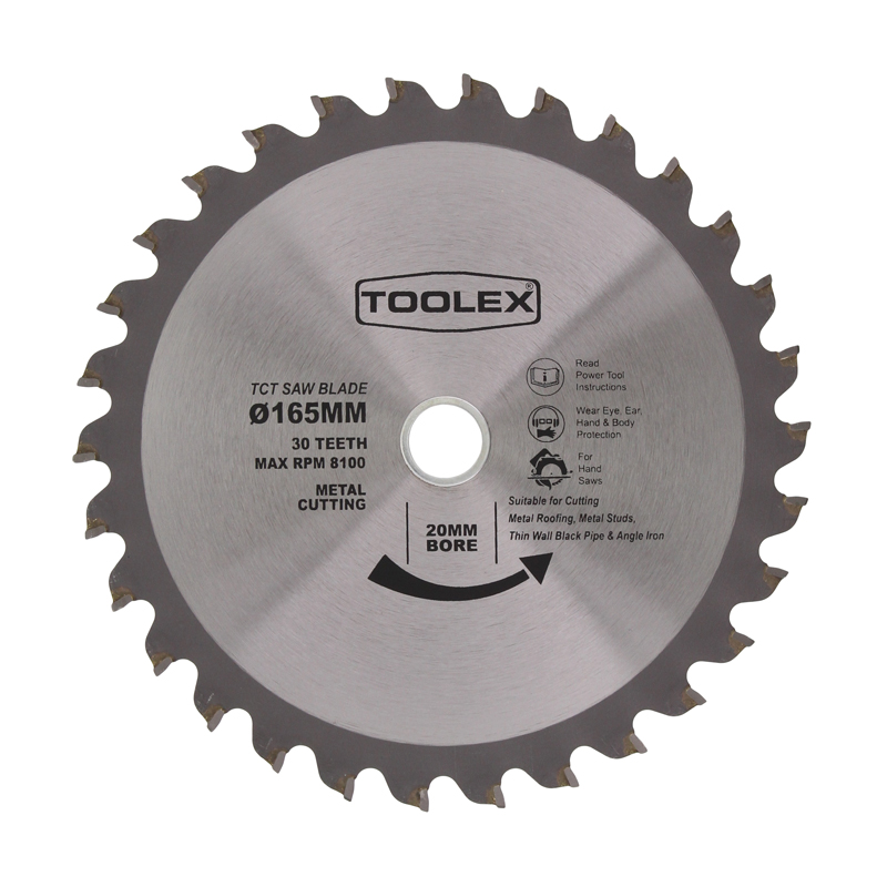 Circular saw blade for metal roofing