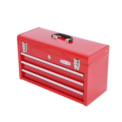 Work Shop Tool Box 508 x 203 x 305 Red Tool Chest 3 Drawers Heavy Duty