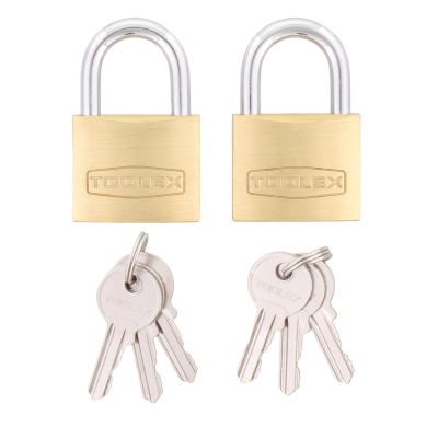 Padlock 40mm x 6.2mm Brass Hardened Shackle with Rust Proof Locking Mechanism