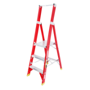 Ladder Platform Ht 0.9m 150kg Fibreglass 3 Steps 1.8m AS/NZS Standard Platform 430x350mm