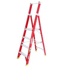 Ladder Platform Ht 1.2m 150kg Fibreglass 4 Steps 2.1m AS/NZS Standard Platform 430x350mm