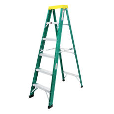 Ladder Step Single 1.8m 100kg Fibreglass Domestic Green 6 ft Single Sided As/Nzs1892.3