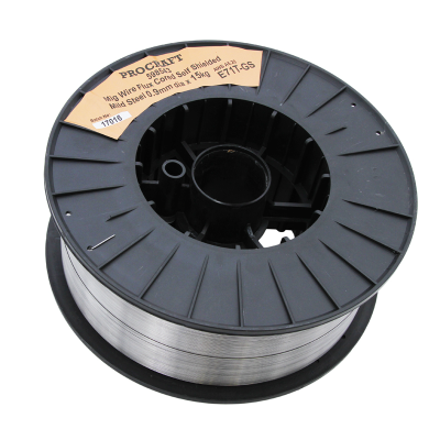 Wire MIG E71T-GS 0.9mm 15kg Flux Cored Self Shielded Single Pass Gasless
