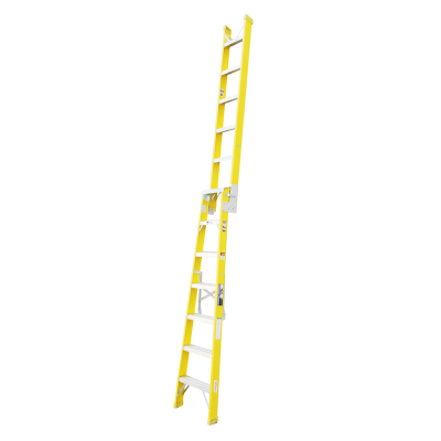 Ladder Dual Purpose 2.0m 3.8m 120kg Fibreglass Trade Yellow 6ft 6in 12ft 5in As/Nzs1892.3