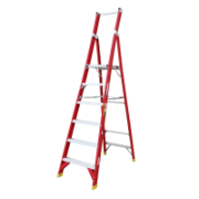Ladder Platform Ht 1.8m 150kg Fibreglass 6 Steps 2.7m AS/NZS Standard Platform 430x350mm
