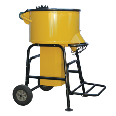 Pan Mortar Mixer 1100W 120L Capacity 36RPM Speed Heavy Dut  Paddle Drum Mixer