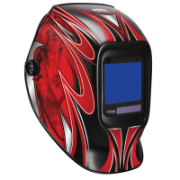 Welding Helmet Automatic Extra Large View Allpro Model Red View 95 x 85mm