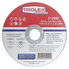 Cutting Disc 125 x 1.6 x 22mm Metal Cutting Inox Thin