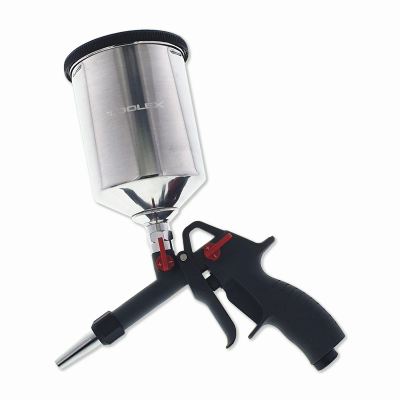 Soda Blasting Gun Portable With 600Ml Aluminium Pot Adj Nozzle 45 - 90psi Operate Pres